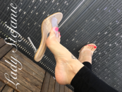 Sexy Feet And Transparent Mules
